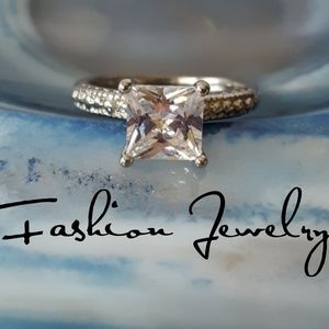 Jewelry - GORGEOUS CZ Princess Cut Engagement Ring